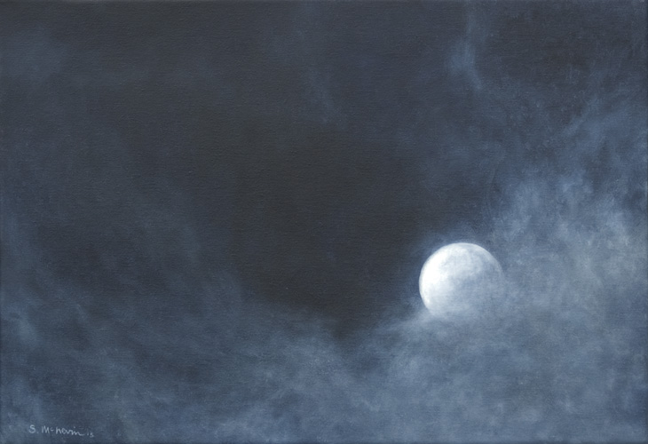Moon Entering the Clouds